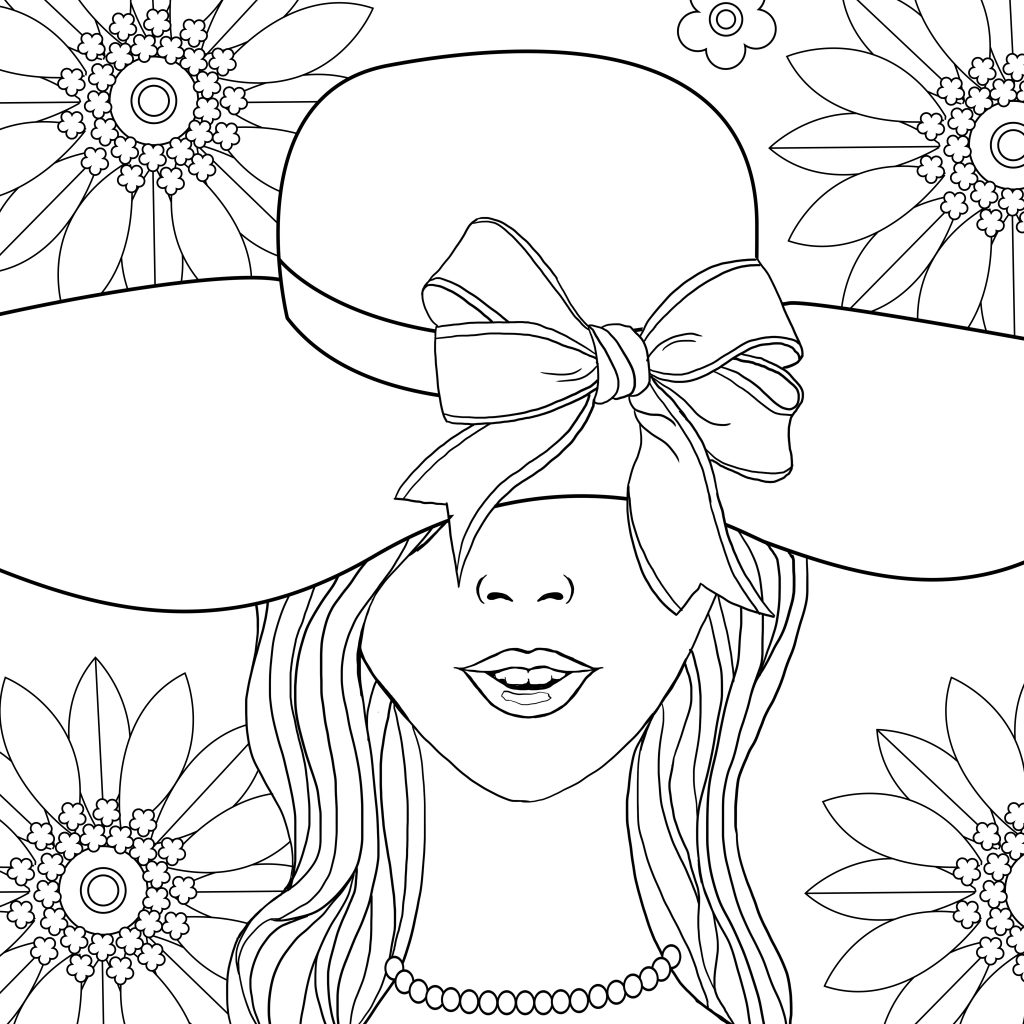 Coloring page, coloring book, coloring for adults