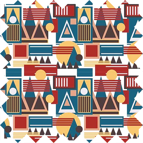 Geometric pattern design by Olivia Linn