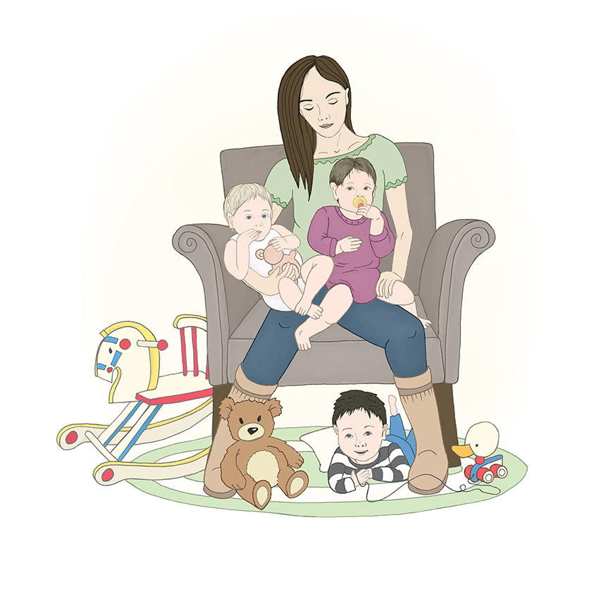 Toddler illustration by Olivia Linn