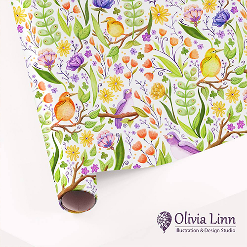 Pattern, animal, design, pattern, repeat, Olivia Linn Design