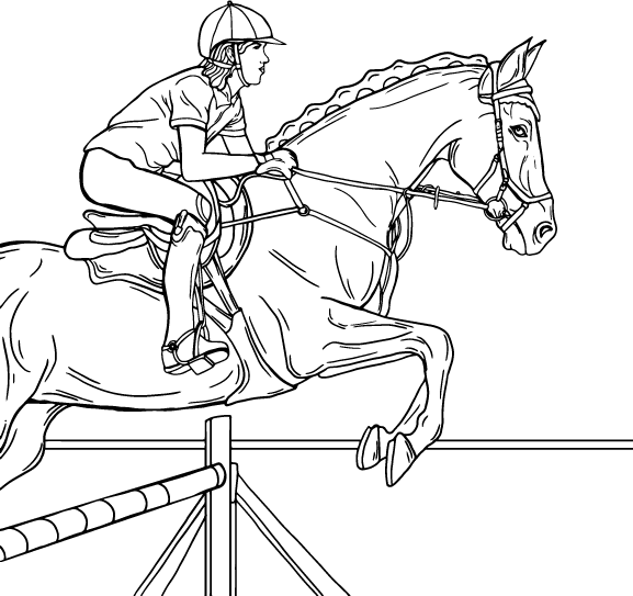 Sport, coloring page by Olivia Linn