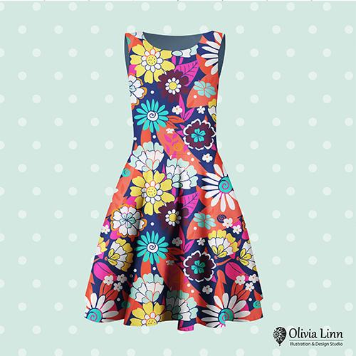 floral design, dress design, design by Olivia Linn