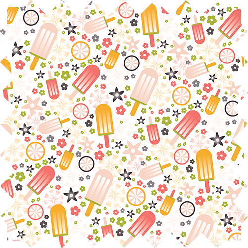 Fun ice cream repeat pattern, design by Olivia Linn