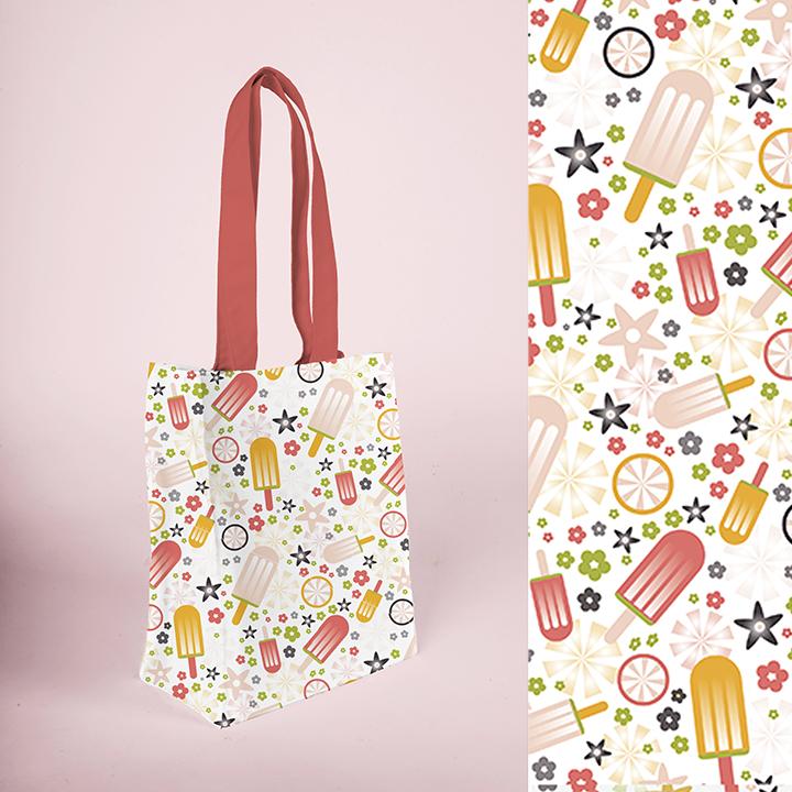 Fun ice cream repeat pattern, design by Olivia Linn