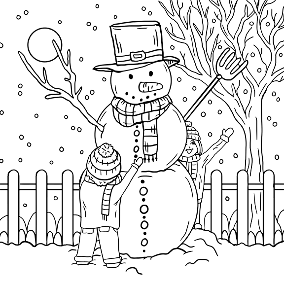 Christmas, coloring page, olivia linn, drawing