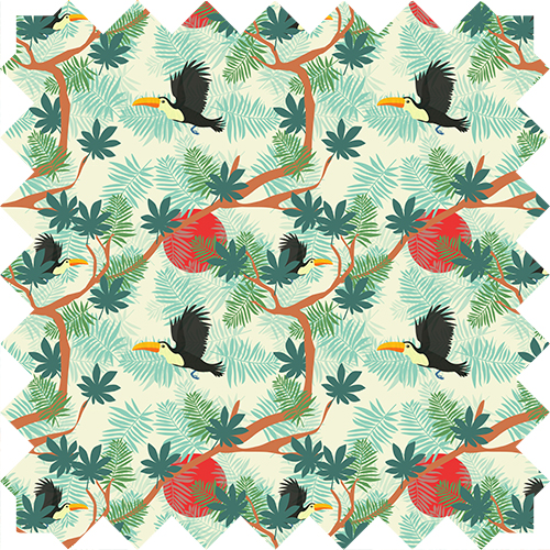 toucan pattern, animal, textile, design by Olivia Linn